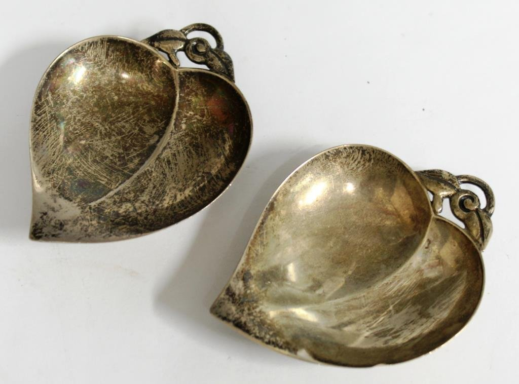 Pair of Tiffany Sterling Leaf-Form Nut Dishes