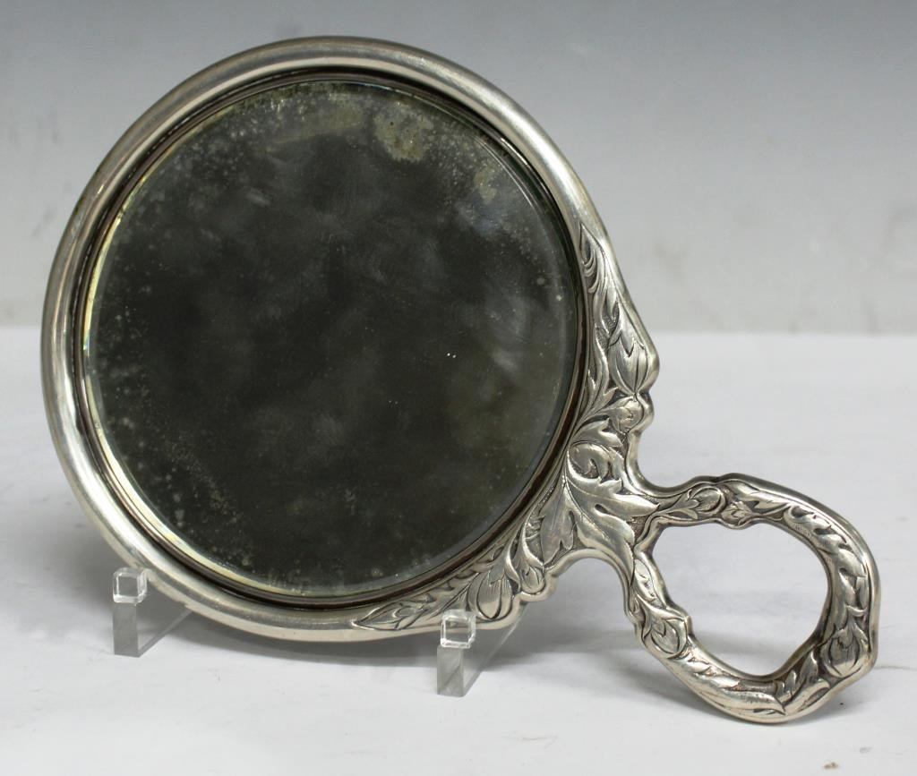 Gorham Chased & Repoussé Sterling Hand Mirror - 2