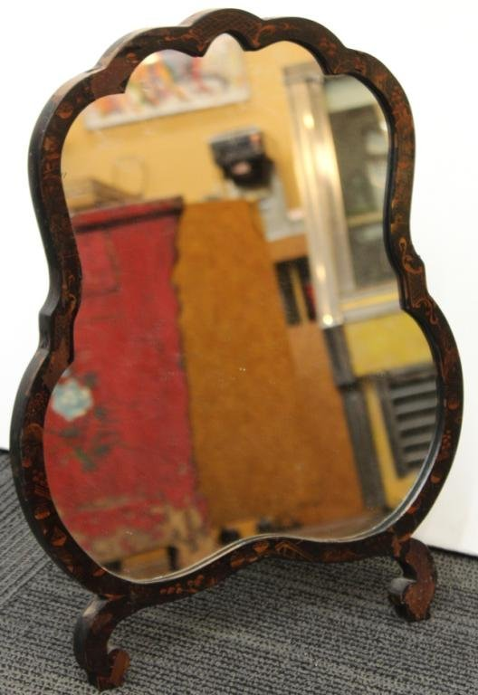 Contemporary Chinoiserie Standing Mirror