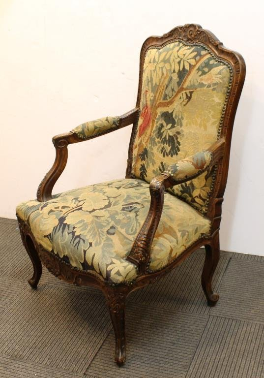 Antique Continental Upholstered Arm Chair - 2