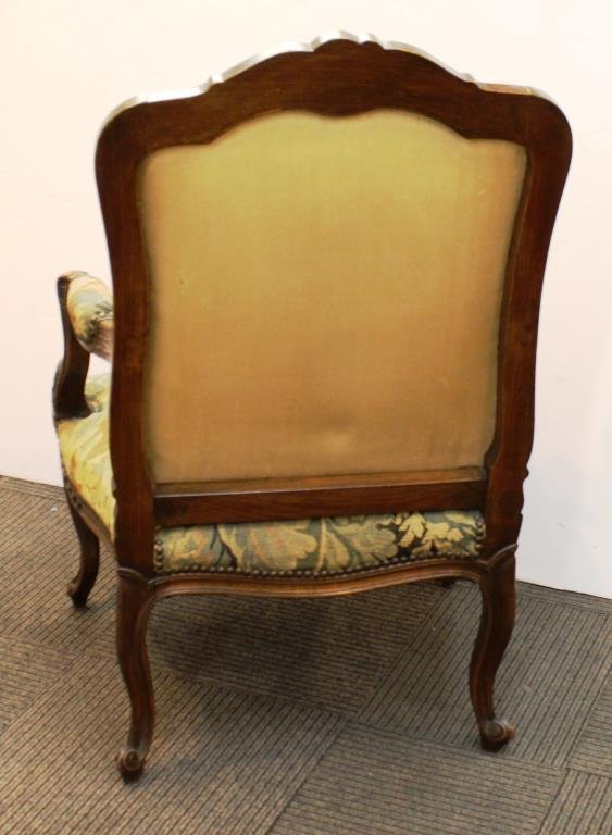 Antique Continental Upholstered Arm Chair - 3