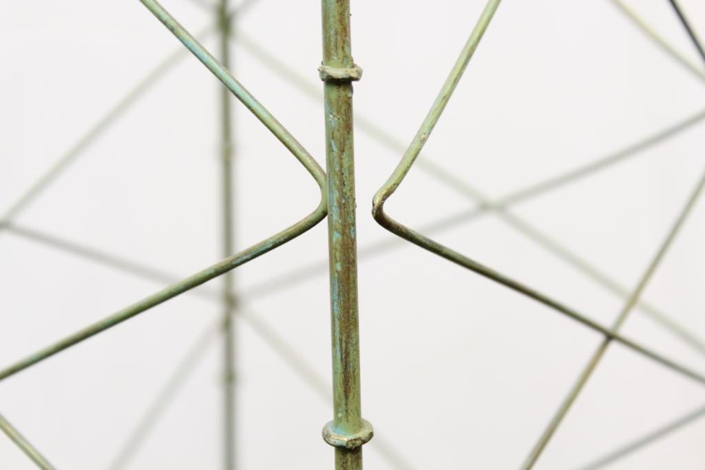 Green-Painted Rectangular Metal Plant Trellis - 4