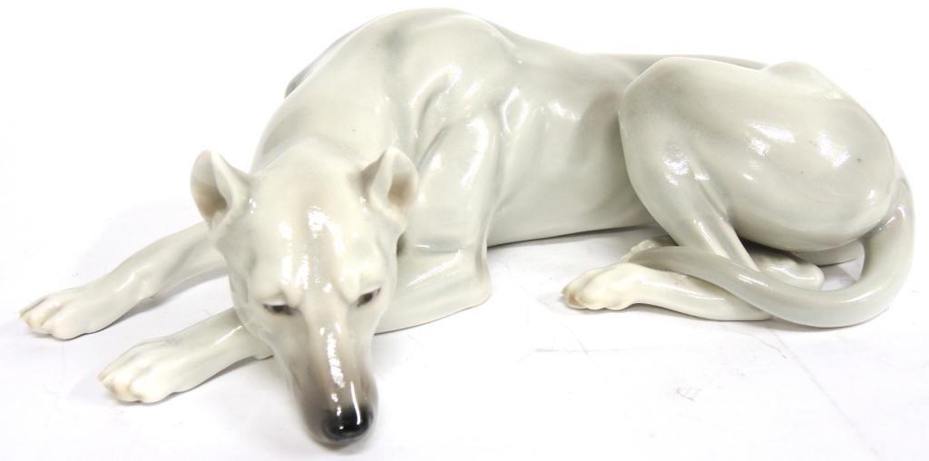Continental Porcelain Figure of a Greyhound