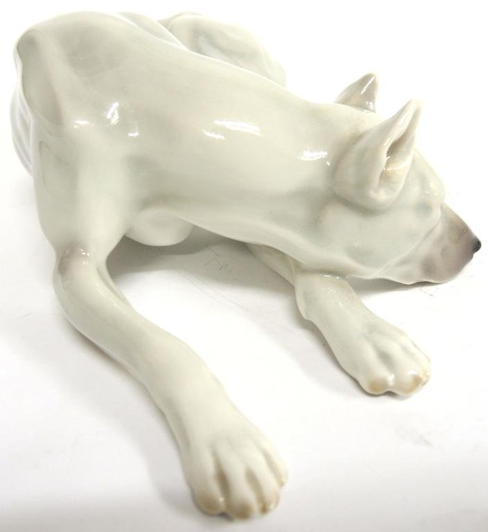 Continental Porcelain Figure of a Greyhound - 2