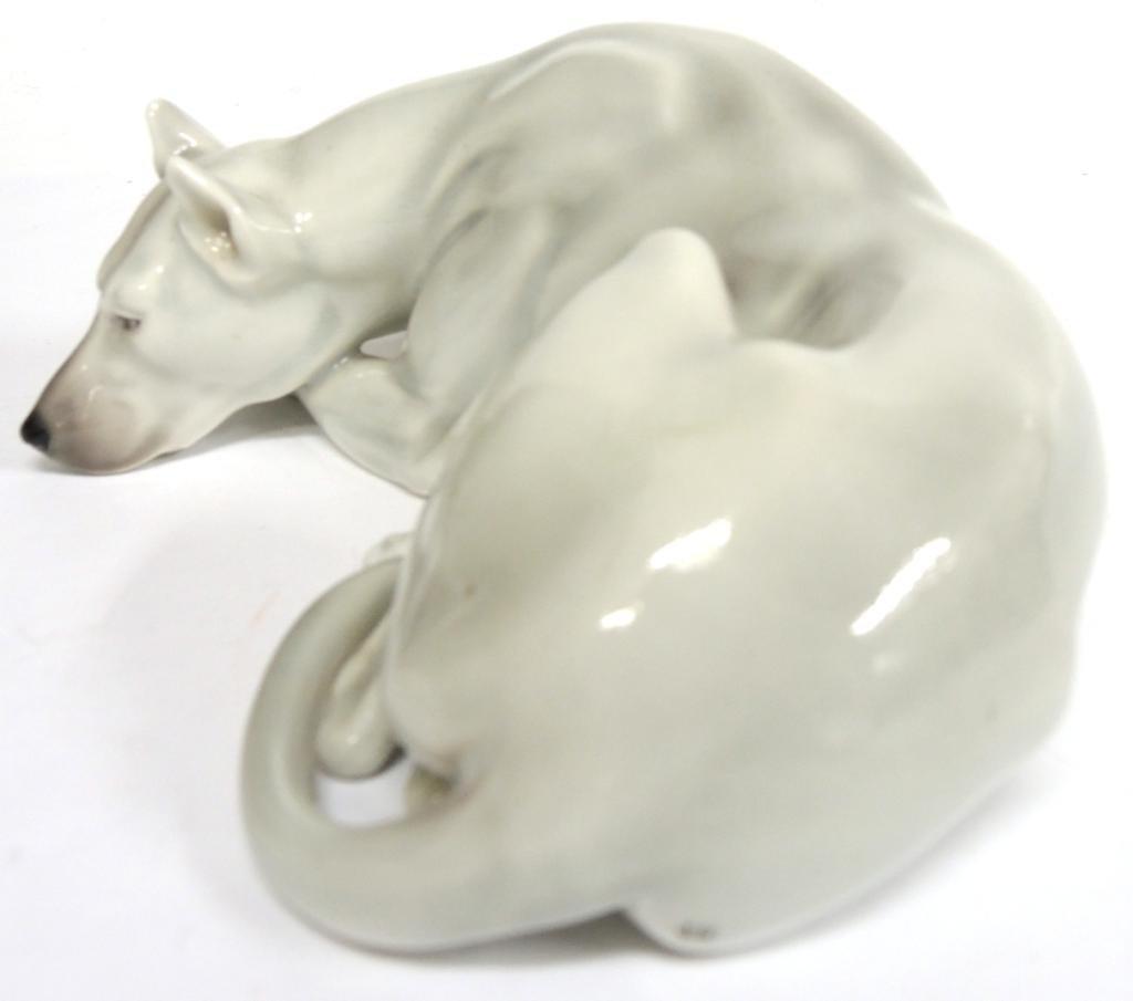 Continental Porcelain Figure of a Greyhound - 4