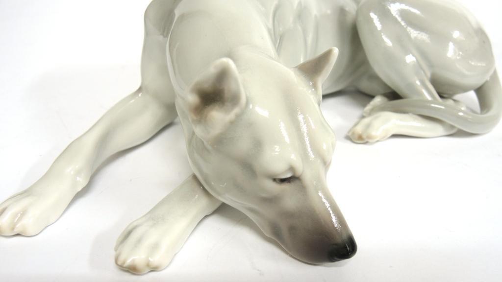 Continental Porcelain Figure of a Greyhound - 5