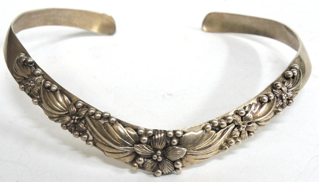 Danish-Style Sterling Silver Torque Necklace