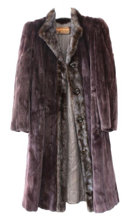 Yves Saint Laurent Vintage 2-Tone Mink Fur Coat