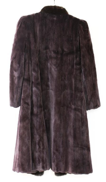 Yves Saint Laurent Vintage 2-Tone Mink Fur Coat - 2