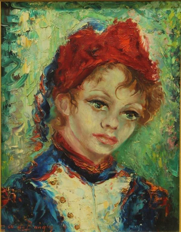 Anna de Banguy (French, 20th Century) - Oil