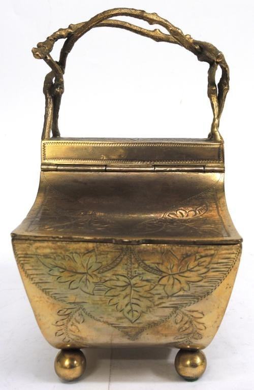 Aesthetic Period Brass Chinoiserie Basket - 3