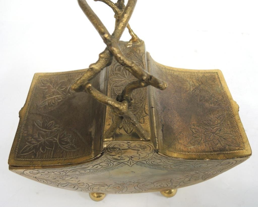 Aesthetic Period Brass Chinoiserie Basket - 6