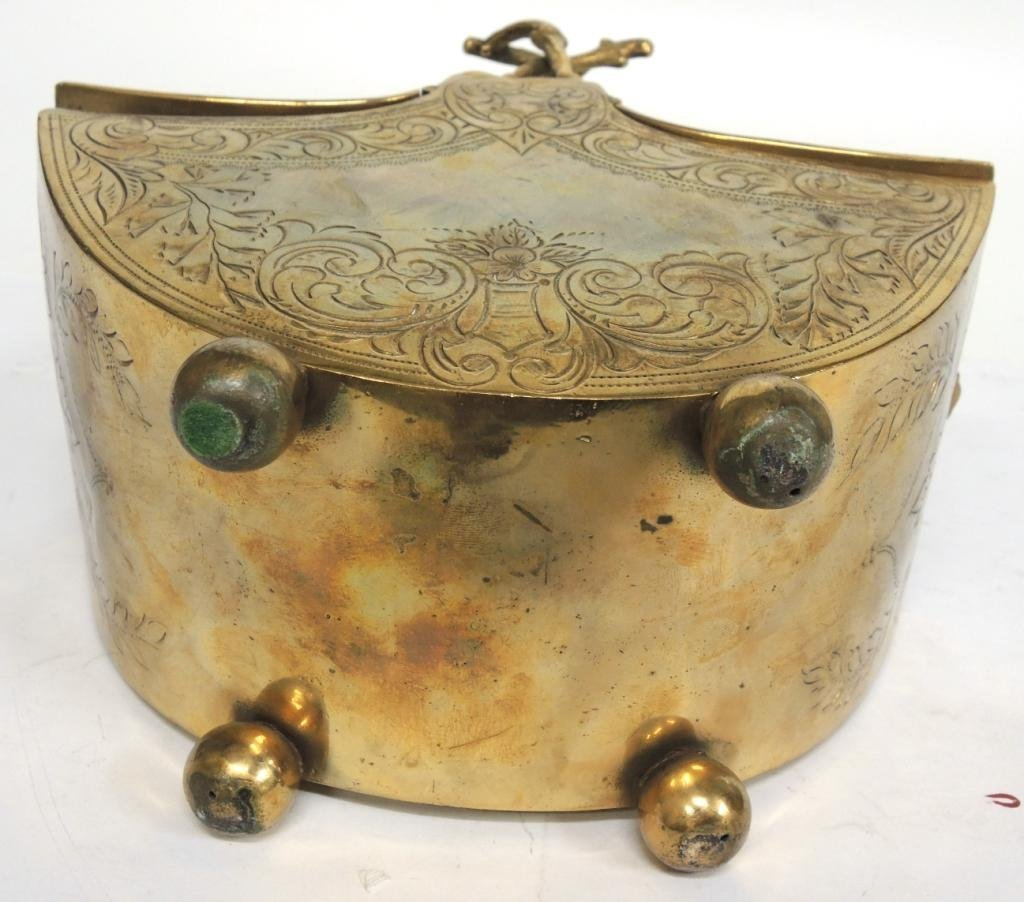 Aesthetic Period Brass Chinoiserie Basket - 7