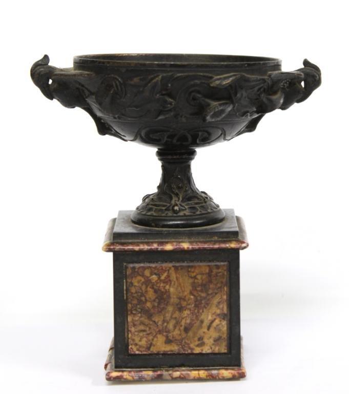 Small Bronze Metal Classical Greek-Style Brazier