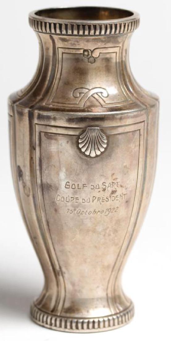 French Sterling Silver Trophy Vase, 1922
