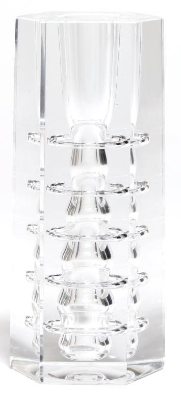 Italian Modernist Glass Candlestick
