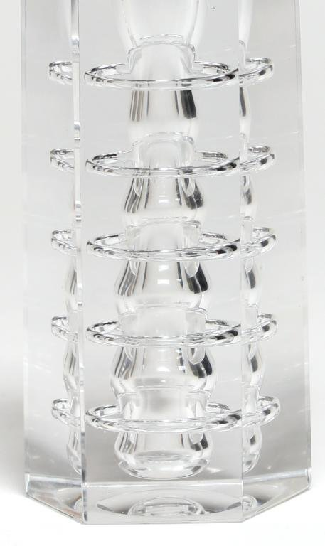 Italian Modernist Glass Candlestick - 2