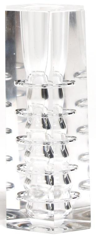 Italian Modernist Glass Candlestick - 4