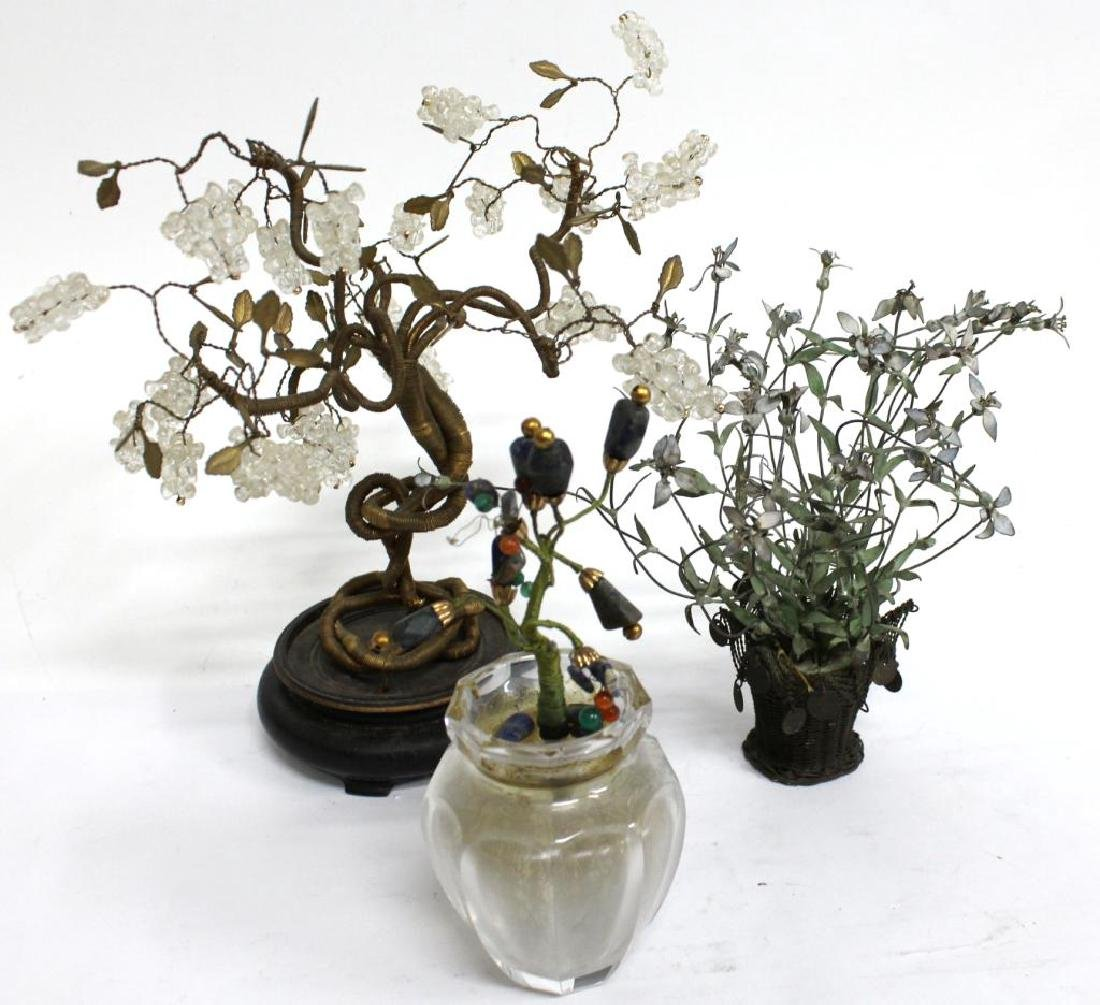 3 Small Tabletop Trees