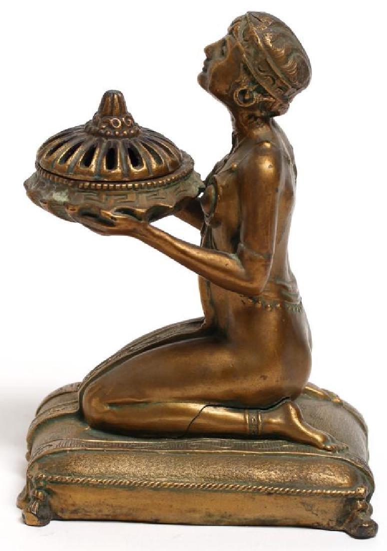 Louis Aronson Art Deco Bronze Metal Incense Burner