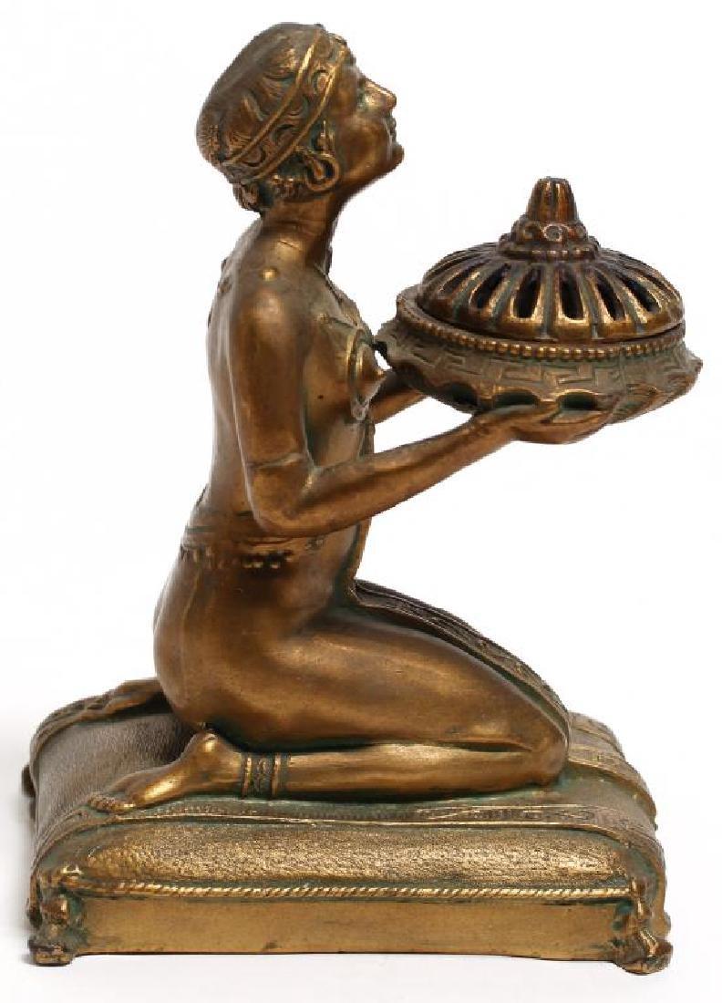 Louis Aronson Art Deco Bronze Metal Incense Burner - 4
