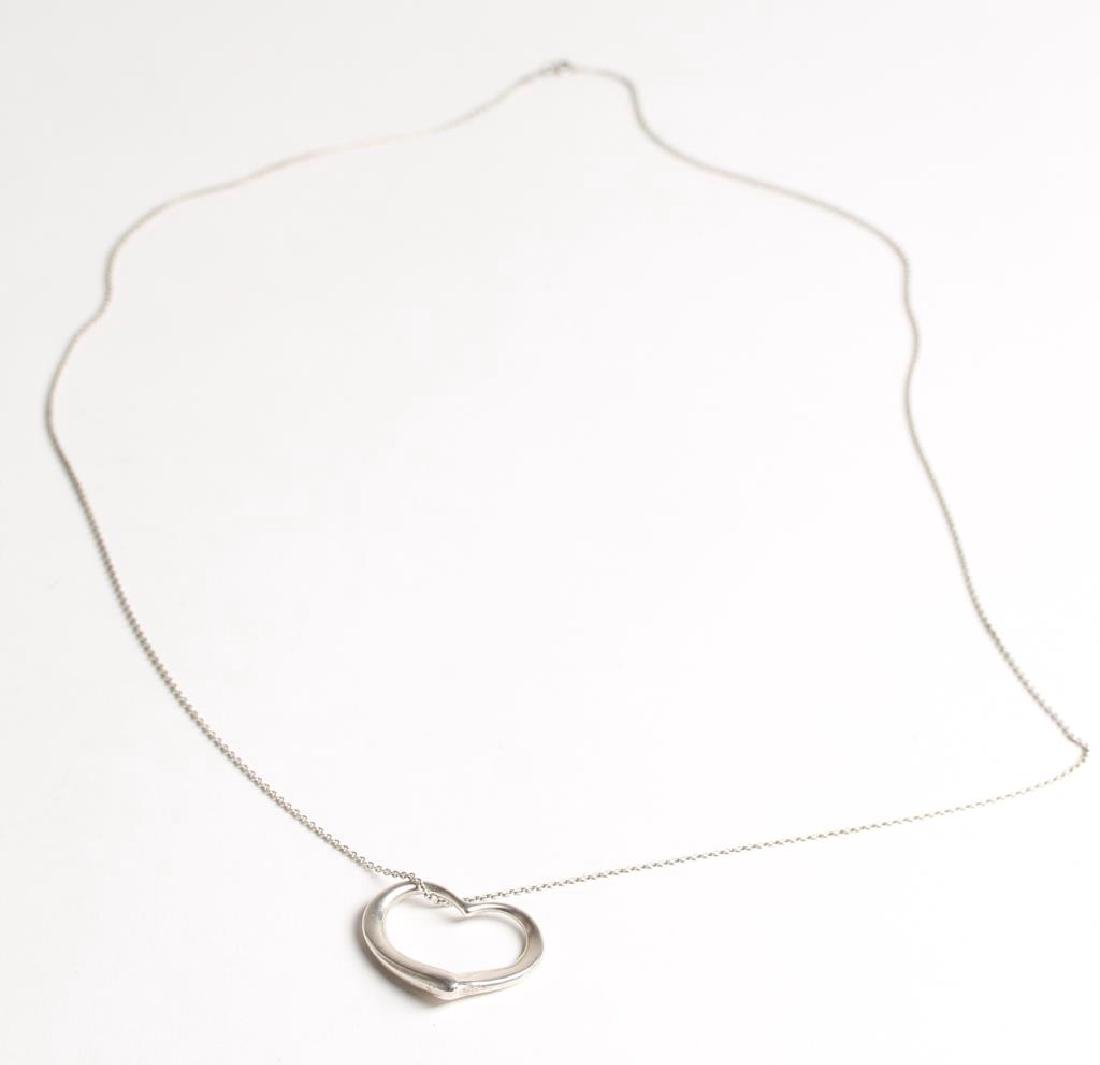 Elsa Peretti for Tiffany Sterling Silver Heart Necklace - 2