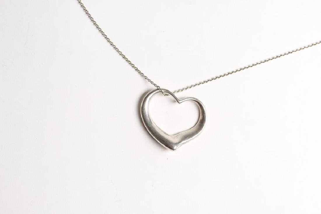 Elsa Peretti for Tiffany Sterling Silver Heart Necklace - 3