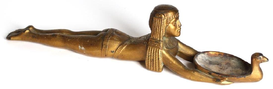 Replica Ancient Egyptian Gold Metal Cosmetic Spoon