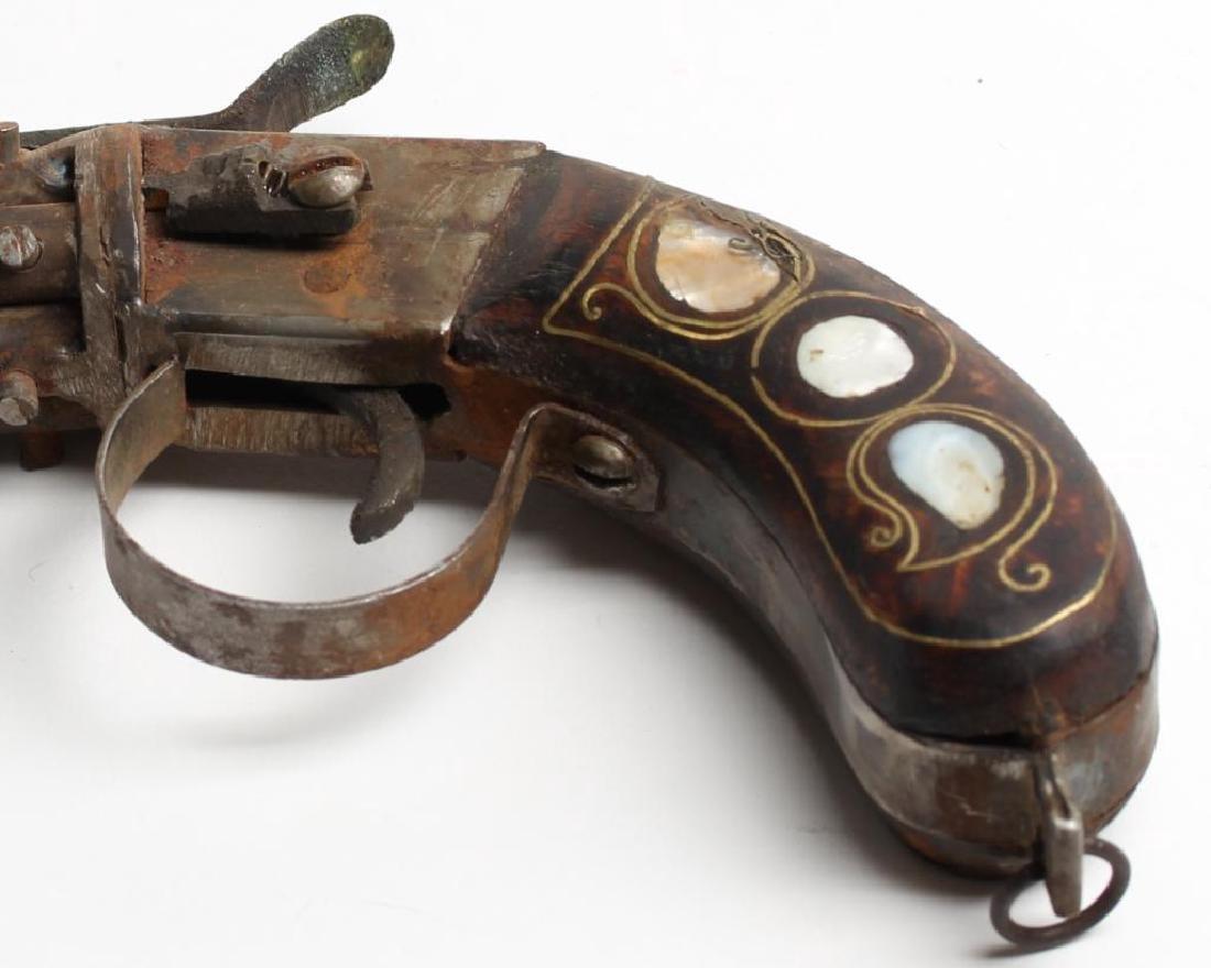 Antique 6-Barrel Percussion Pistol - 3