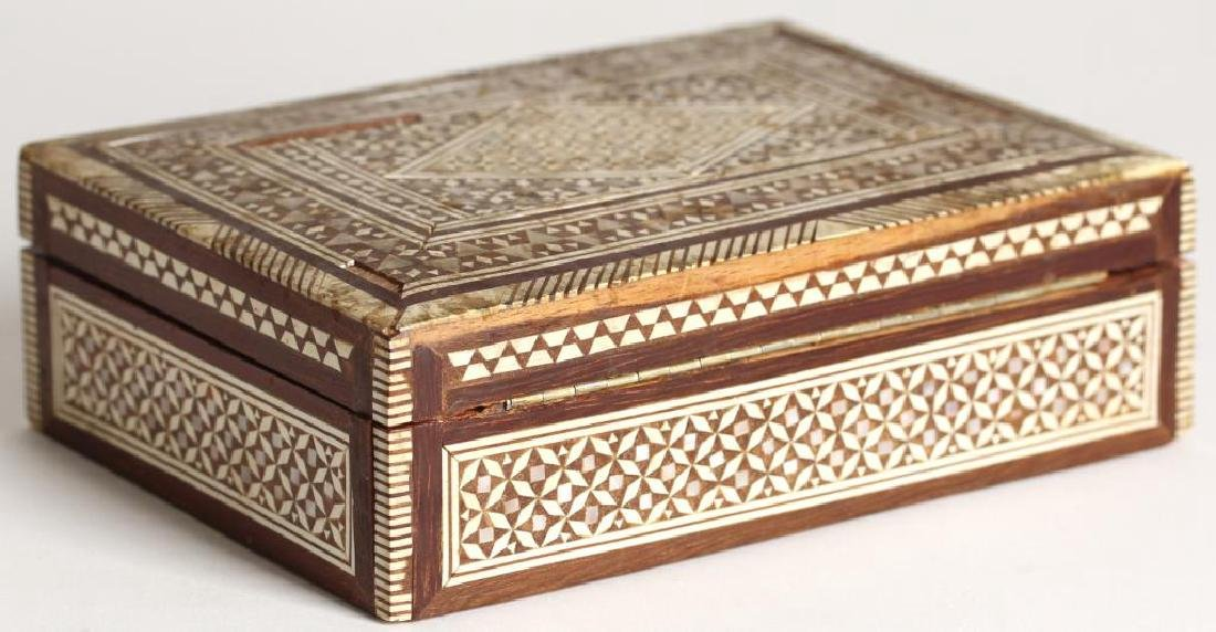 Vintage Syrian Marquetry Inlay Box - 3