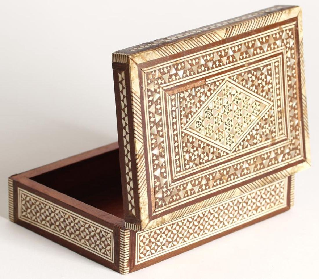 Vintage Syrian Marquetry Inlay Box - 4