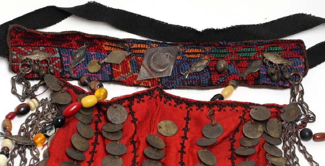 North African Embroidered Coin Headdress - 2
