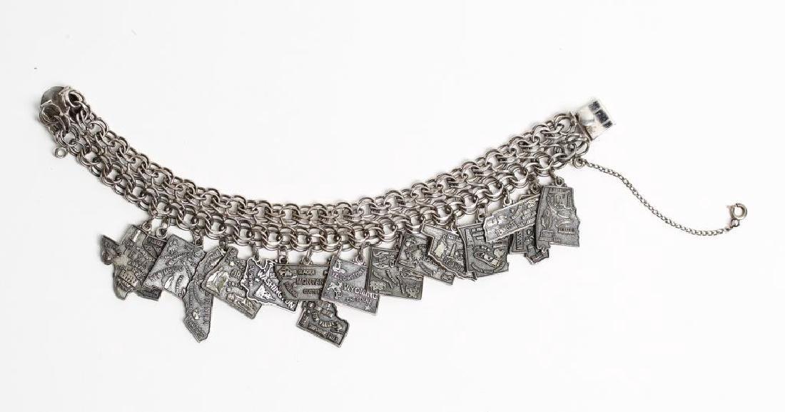 Jacoby Bender Sterling Silver 16-Charm Bracelet