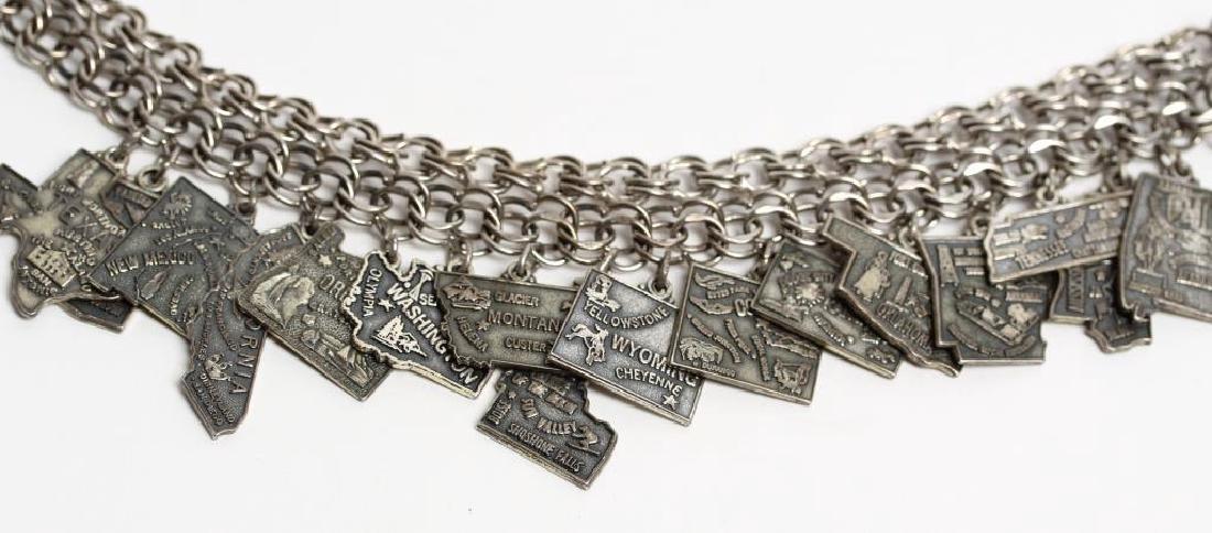 Jacoby Bender Sterling Silver 16-Charm Bracelet - 2