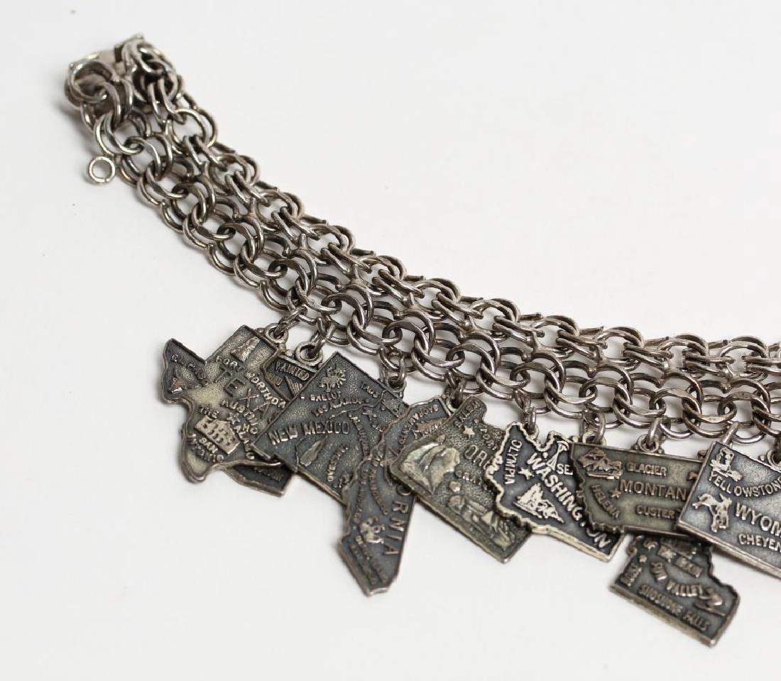 Jacoby Bender Sterling Silver 16-Charm Bracelet - 3