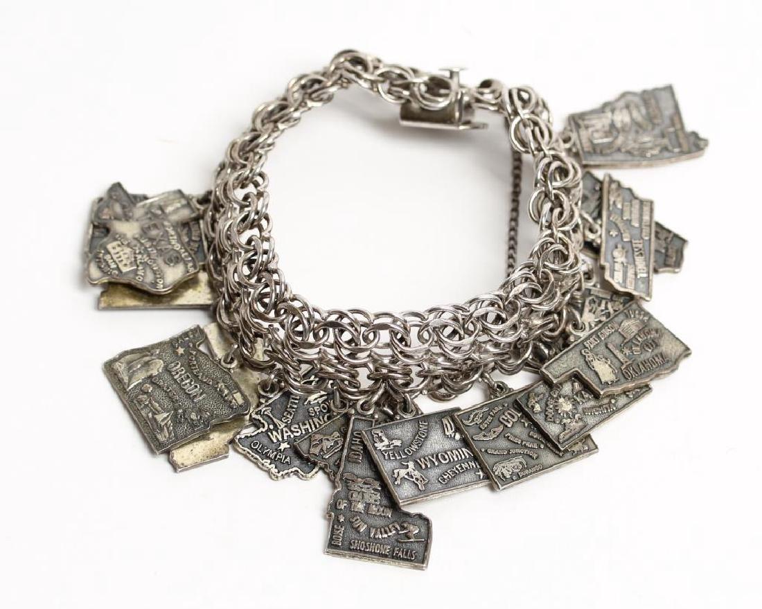 Jacoby Bender Sterling Silver 16-Charm Bracelet - 5
