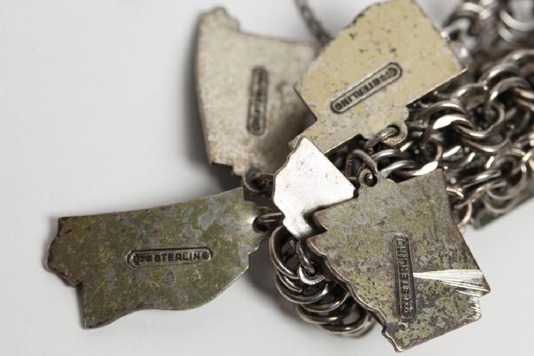 Jacoby Bender Sterling Silver 16-Charm Bracelet - 6