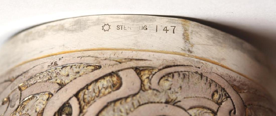 Art Nouveau Round Sterling Silver Vanity Jar - 4