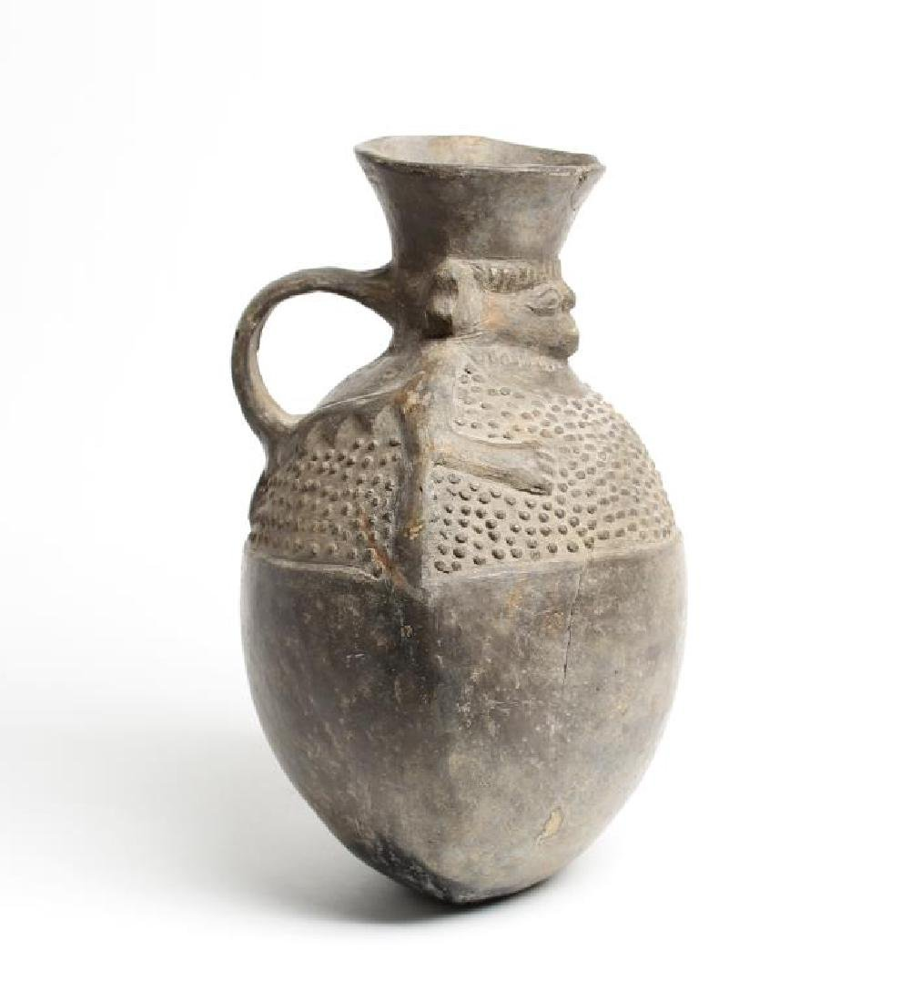 Pre-Columbian-Style Pottery Pitcher - 2