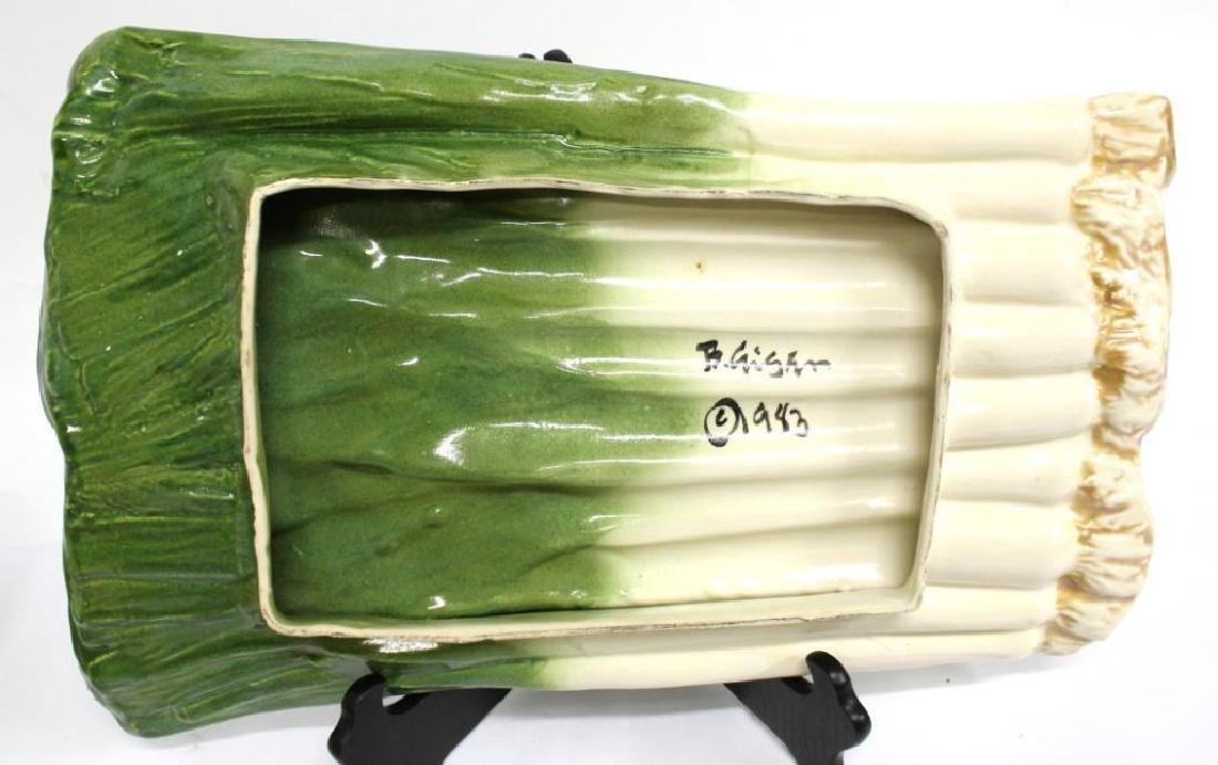 2 B. Eigler Hand-Painted Vegetable Platters, 1983 - 9