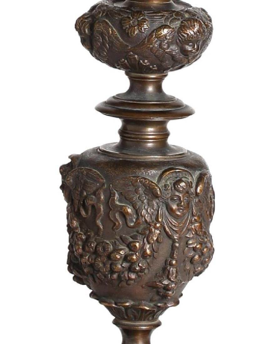 Ornate Bronze Table Lamp, Attributed to Caldwell - 3