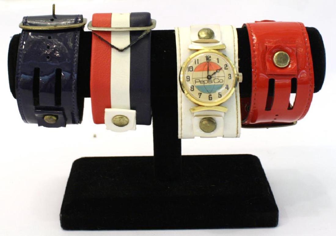 1970s Bicentennial Pepsi Watch & 4 Different Bands