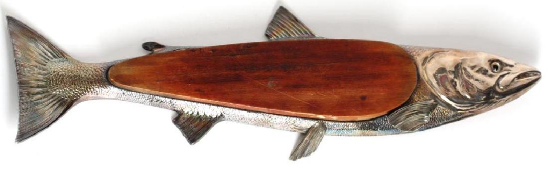 EPNS Articulated Fish-Form Serving Tray