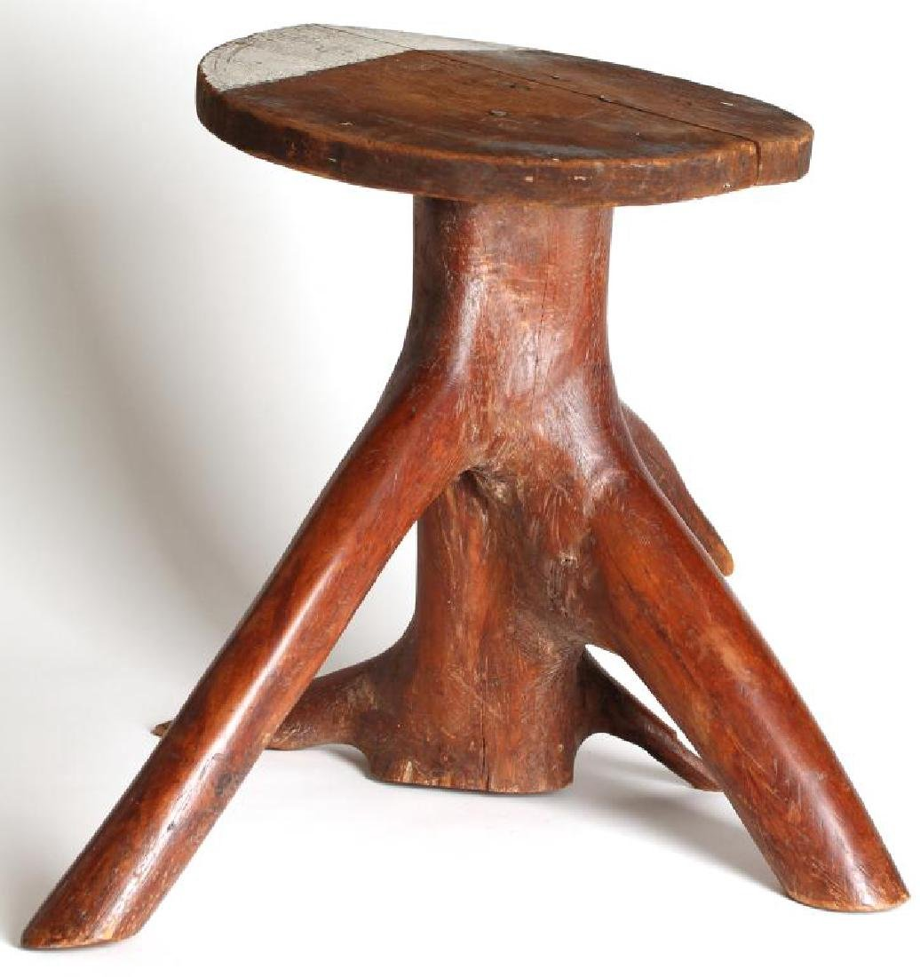 Rustic Tree Trunk Low Table / Stand