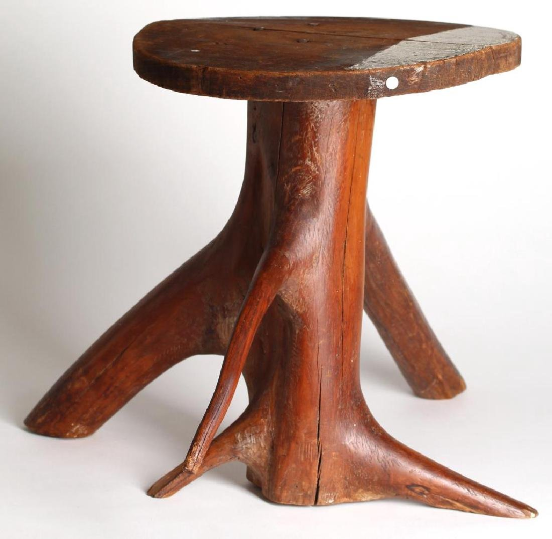 Rustic Tree Trunk Low Table / Stand - 3