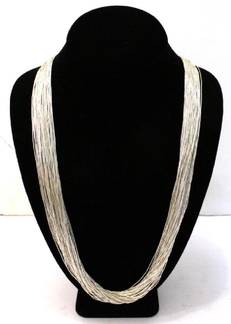 Navajo Liquid Sterling Silver Necklace
