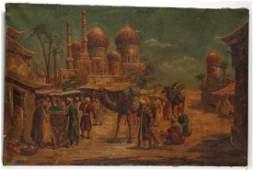 Charles Wolfert German b 1900  Oil on Canvas