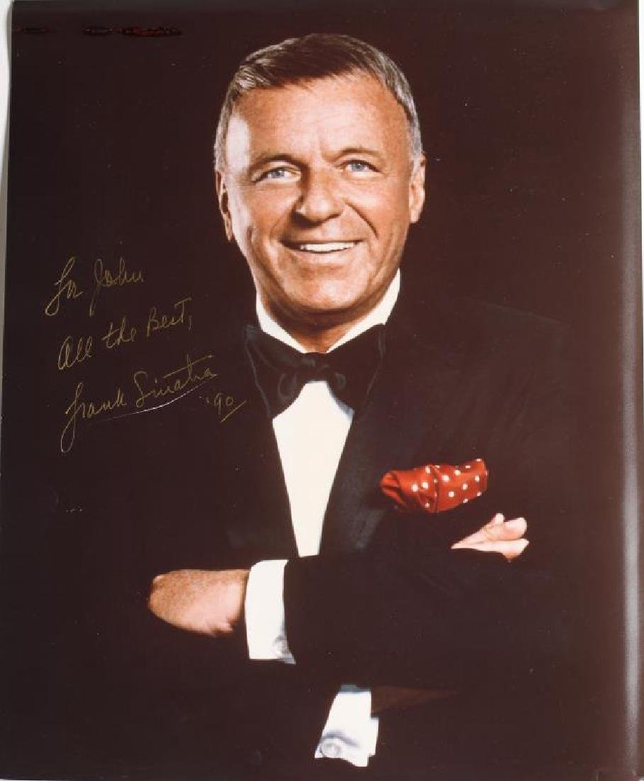 "Frank Sinatra Autographed Color 8"" x 10"" Photo"