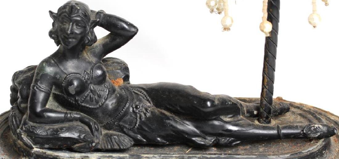 Bronze Table Lamp with Reclining Belly Dancer - 2