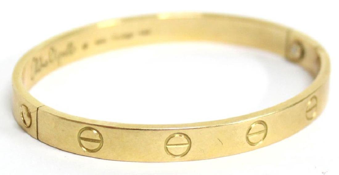 Cartier 18K Gold Love Bracelet, Aldo Cipullo - 2